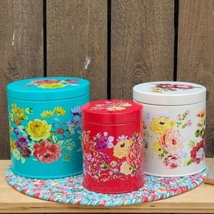 Pioneer Woman Garden Meadow canisters